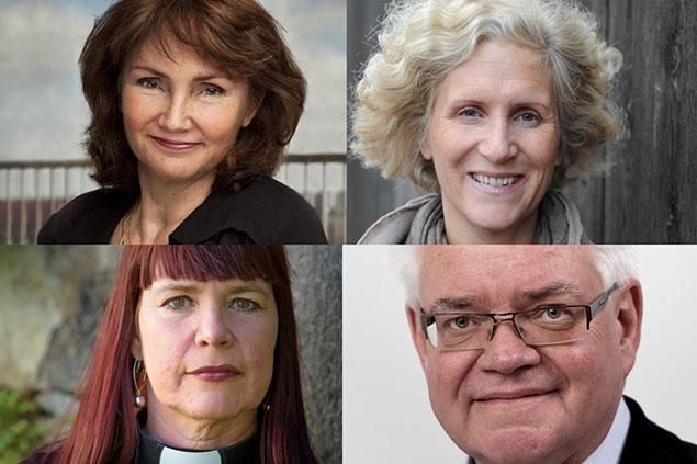 Anneli Rogeman, Ann Svensén, Gunilla Hallonsten, Bo Forsberg.