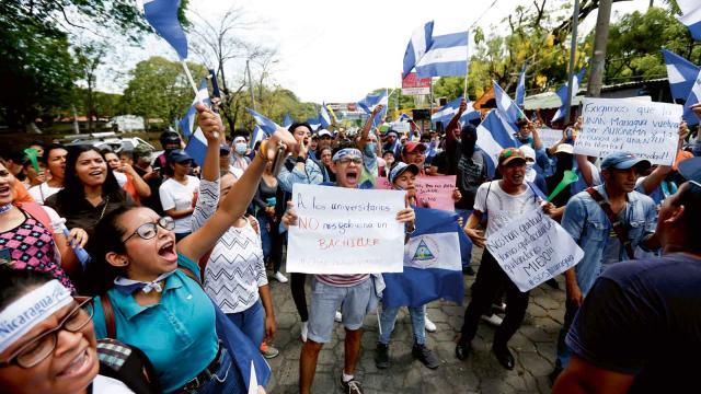 President Ortega har svarat med våld mot protester. Bild: Alfredo Zunga